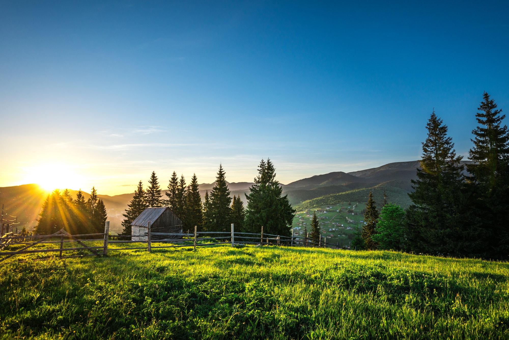 Mesmerizing beautiful landscape of hills
